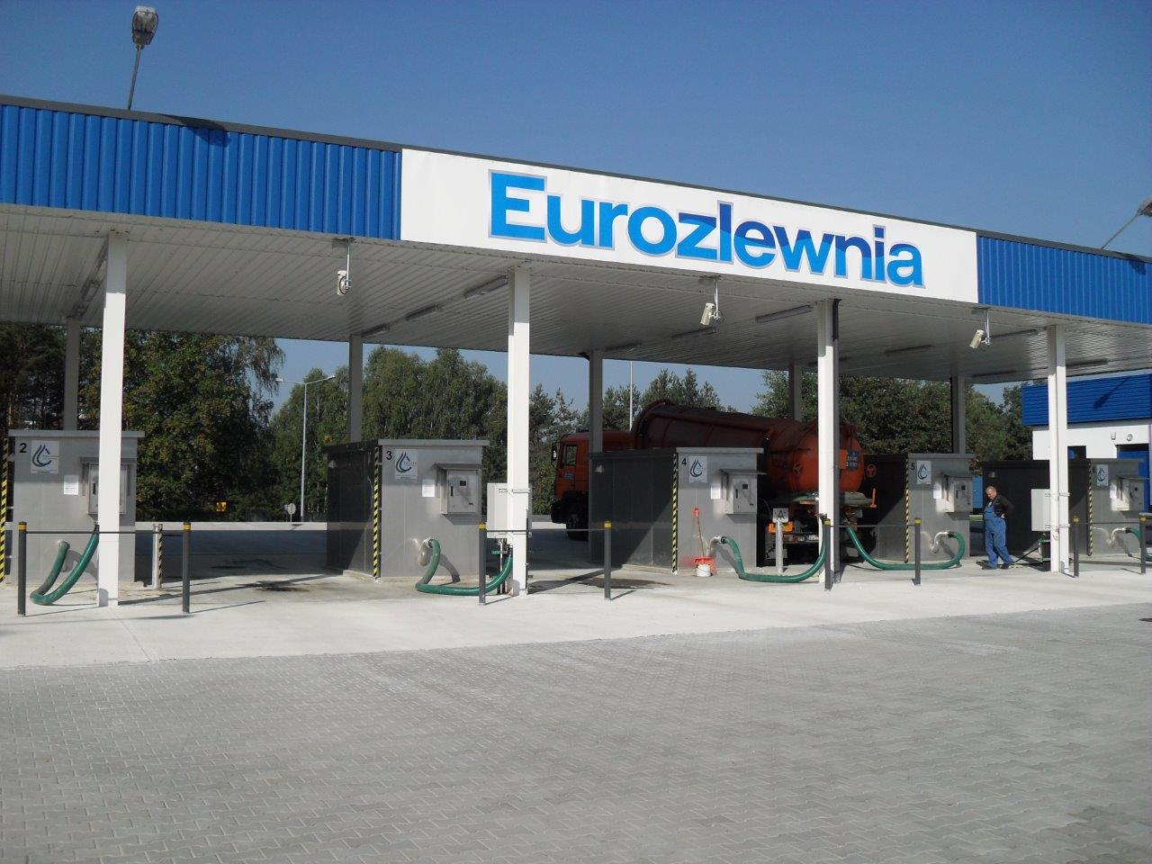 Six container waste water receipt stations at EUROZLEWNIA